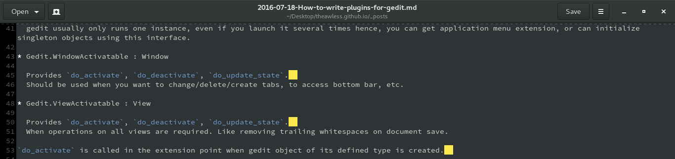 How to write plugins for gedit